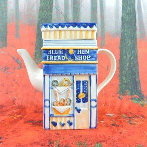Other - VTG Blue Hen Bread Shop/Wine & Cheese Store Teapot